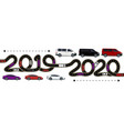 2019-2020 symbolizes the transition to the new vector image vector image
