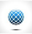 abstract globe design icon vector image vector image