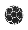 abstract grunge soccer ball for your poster flyer vector image vector image