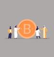 arab business man woman mining bitcoin crypto