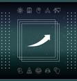 arrow icon - up vector image vector image