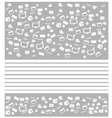 background white movie icon set vector image vector image