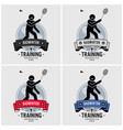 badminton club logo design artwork badminton vector image