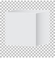 blank white carton 3d box icon on transparent vector image