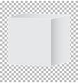 blank white carton 3d box icon on transparent vector image