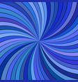blue abstract psychedelic spiral ray burst stripe vector image vector image
