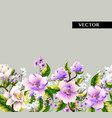 border with magnolia flowers vector image vector image
