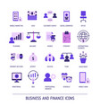 business and finance icons business and finance vector image