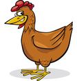 cartoon chicken vector image vector image