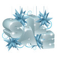 christmas or new year sale ornaments vector image