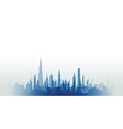Cityscape with fade blue