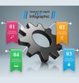 cogwheel gear icon business infographics vector image vector image