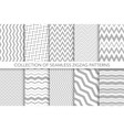 collection of seamless zigzag patterns vector image vector image