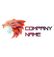colorful tiger head simple logo on a white vector image