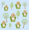 cute and funny animals cartoons vector image vector image