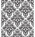 damask seamless background vector image vector image