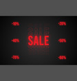 dark web banner for black friday sale modern neon vector image