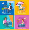 designer artist concept icons set vector image vector image