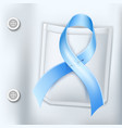 diabetes day awareness symbol blue ribbon vector image vector image