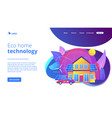 eco house concept landing page vector image vector image