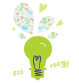 Eco light bulb concept vector image vector image