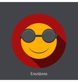 emotion flat icon on gray background vector image