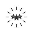 excellence icon in flat style star ribbon on vector image vector image