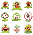 farm food agriculture icons labels collection set3 vector image