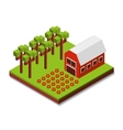 farm fresh isometric icon vector image