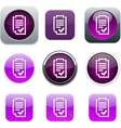 Form purple app icons vector image