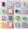 freezer fridge frozen ice icons set flat style vector image