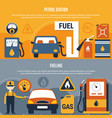 fuel pump flyer set vector image