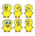 funny easter chicken symbol icon design spring vector image