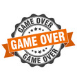 game over stamp sign seal vector image vector image