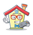 gamer house character cartoon style vector image