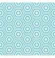 geometric hexagon seamless pattern vector image vector image