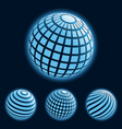 Global Business Icons vector image