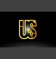 Gold black alphabet letter us u s logo