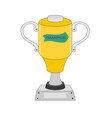 gold trophy winner icon vector image vector image