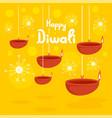 happy divali festival concept background flat vector image