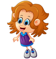 happy little girl cartoon vector image vector image