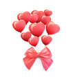 happy valentines day greeting card 3d red and vector image vector image
