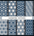 hexagon geometric patternpattern fills web vector image vector image