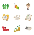 Idea business icons set cartoon style vector image vector image