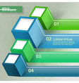 Infographic template with four cubes vector image vector image
