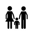isolated family design vector image vector image