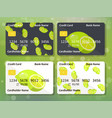 lime on frontal side of credit card vector image vector image