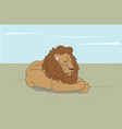 lion lies on nature vector image