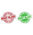 mont blanc round stamp seals with unclean texture vector image vector image