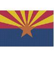 mosaic flag of arizona vector image